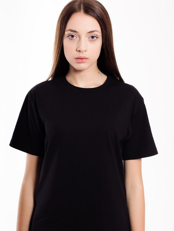 Items similar to tumblr t shirt plain just black white t for T shirt plain black