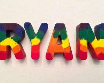 Personalized Rainbow Crayon Name