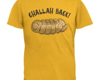 Challah Back Gold Adult T-Shirt
