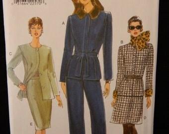 Vogue Career Dress Pant Suit Sewing Pattern 9363 Uncut Size 8-10-12