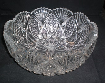 Antique Pattern Glass EAPG Virginia Tarentum Bowl ca 1894