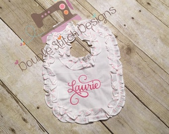 Dressy bib, baby, confirmation or baptism, special occasion