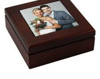 Keepsake photo jewlery box  4x4 tile size, Keepsake, jewlery box, black, brown, Photo, Custom, Personalized keepsake box.