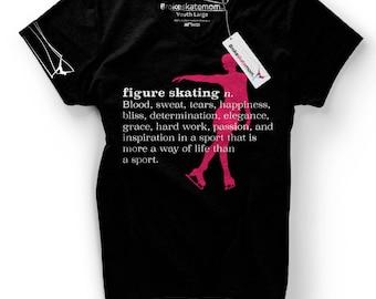 Broke Skate Mom Figure Skating T-Shirt