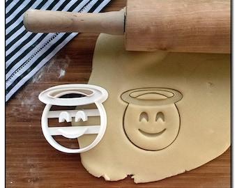Cookie Cutter Emoticone Emoji Smiley Angel