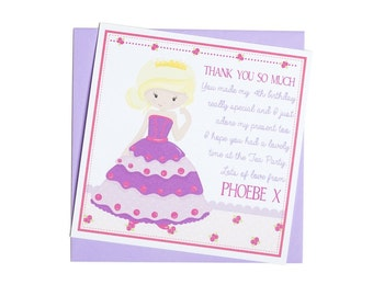 Personalised Princess Thank You Notes