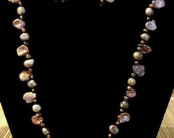 Stunning Keshi Pearl set