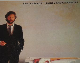 Eric Clapton record, Money And Cigarettes vintage vinyl record album