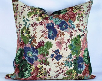 Multi color floral pillow throw covers beautiful decorative floral cushion outdoor pillow case handmade cushion cover 18x18 pillow cover