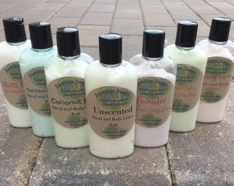 Assorted Hand and Body Lotion, 4 oz Lotion, Unscented or Scented Lotion, Fragranced Lotion