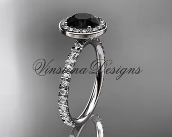 platinum engagement ring Black Diamond VD10082