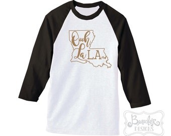 Oooh La LA Raglan Sleeve T-Shirt Or Tank