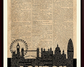London Skyline Print, London Poster, London Decor, London Wall Art, London Art Print, London Wall Decor, London Home Decor