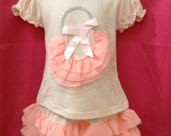 2pc ruffle girl outfit