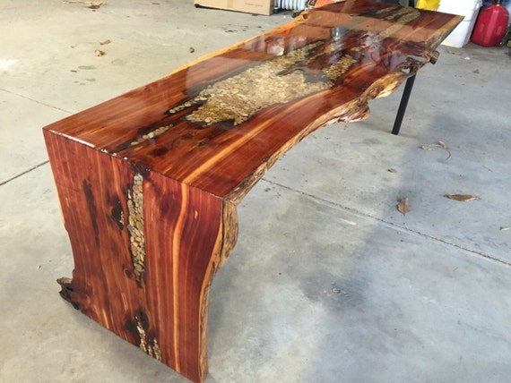 Items Similar To Live Edge Waterfall Coffee Table On Etsy