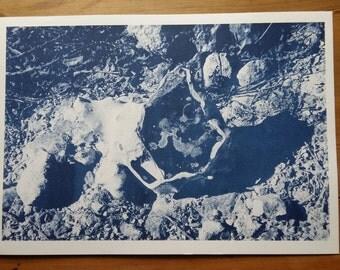Risograph Print • A3 • Blue • Flint