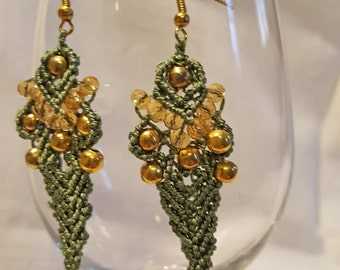 Macramé earrings OR06