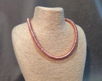 Coiled copper necklace