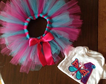 First birthday butterfly outfit