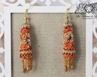 Earrings Tangerine Kanari