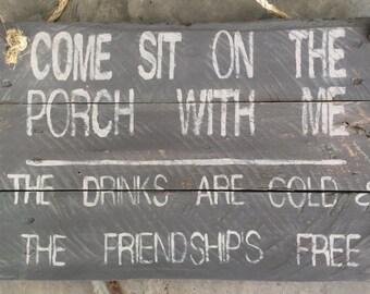 Pallet porch sign
