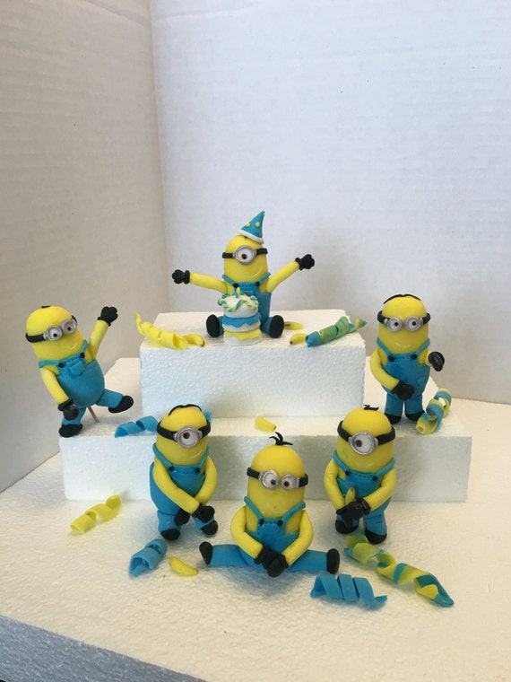 Edible minions inspired complete cake decoration set from for 3d printer cake decoration