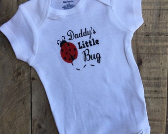 Baby Girl Little Bug Bodysuit - Ladybug  - Daddy's Little Bug