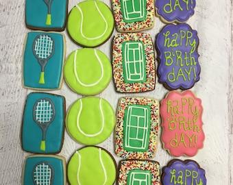 Tennis Themed Sugar Cookies