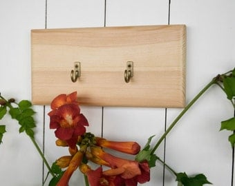Minimalist key hook, wood key holder, wall key hooks, entryway hooks, key rack, entyway rack, eco house, key storage, key organizer