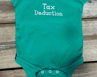 Tax deduction Embroidered Onesie