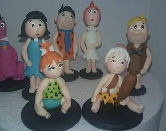 Flintstones cake toppers