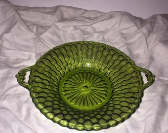 Indiana Glass Co. Honeycomb Dish