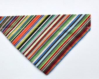 Multi Coloured Stripe, Paul Smith Style 'Slip on/Collar through' Bandana