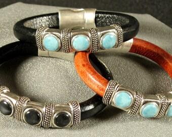 Santa Fe Look Leather Bracelet