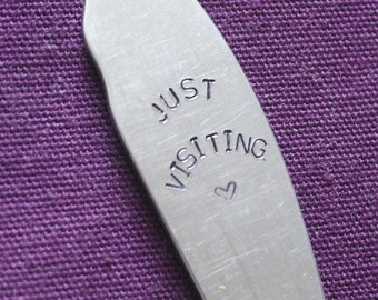 hand stamped cutlery coat hook just visiting