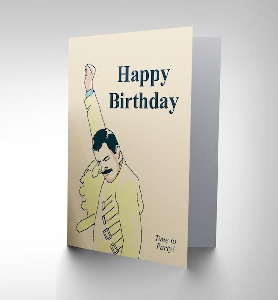 Birthday Card Freddie Mercury Happy Birthday Party Music