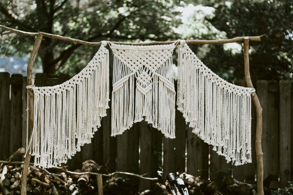 Macrame Wedding Backdrop Curtain Bohemian Modern