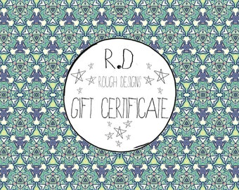 Personalised Gift Certificate
