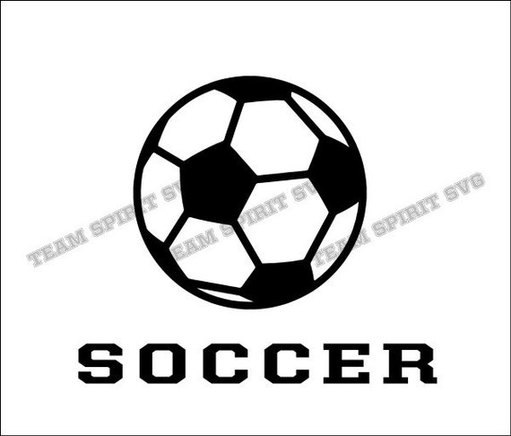 Soccer Ball and Word Download Files SVG DXF EPS