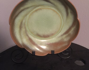 Frankoma Pottery Bowl Prairie Green  Platter