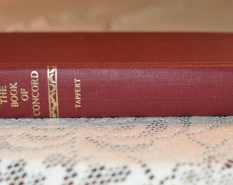 """Vintage """"The Book of Concord"""" Antique Hardcover Book 1989"""