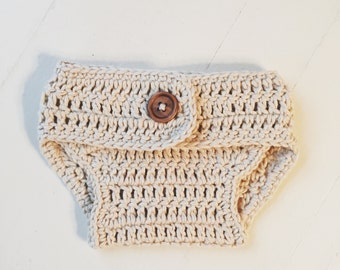 Newborn Cotton Crochet Diaper Cover