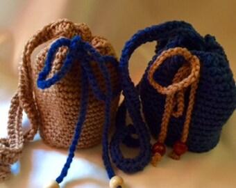 Single-Colored Small Crossbody Crochet Bags
