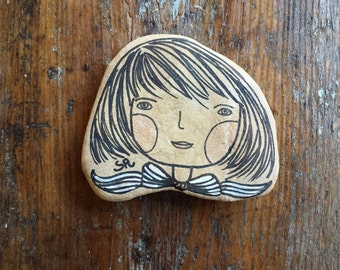 My painted stones: ribbon child