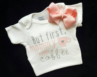 Baby girl clothes, Baby girl onesies, Onesies, Onesie, Baby onesies, Baby clothes, Cute onesies, Coffee onesies, Coffee Baby clothes, Baby