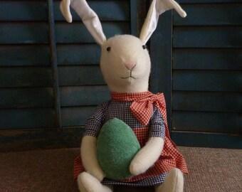 Primitive Folk Art Easter Bunny Rabbit Doll
