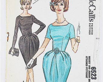 50s Party Dress Pattern | McCall 6523 Misses Dress with Petticoat | 50s Sewing Pattern