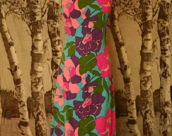 Psychedelic Vintage 1960s Summer Dress