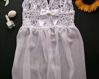 White lace babydoll, Lingerie, Underwear