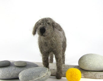 Needle felted wool dog - Perfect handmade gift for a dog lover